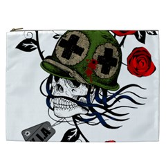 Skull Skeleton Dead Death Face Cosmetic Bag (xxl)  by Celenk