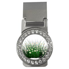 Spring Flowers Grass Meadow Plant Money Clips (cz)  by Celenk
