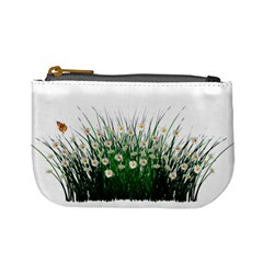 Spring Flowers Grass Meadow Plant Mini Coin Purses by Celenk