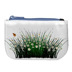 Spring Flowers Grass Meadow Plant Large Coin Purse by Celenk