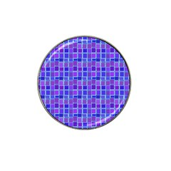 Background Mosaic Purple Blue Hat Clip Ball Marker (4 Pack) by Celenk