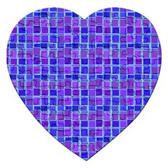 Background Mosaic Purple Blue Jigsaw Puzzle (heart) by Celenk