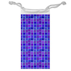 Background Mosaic Purple Blue Jewelry Bag by Celenk