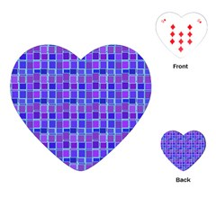 Background Mosaic Purple Blue Playing Cards (heart)  by Celenk