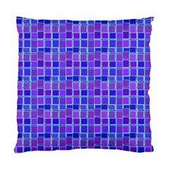 Background Mosaic Purple Blue Standard Cushion Case (one Side) by Celenk
