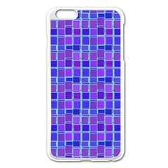 Background Mosaic Purple Blue Apple Iphone 6 Plus/6s Plus Enamel White Case by Celenk