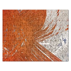 Abstract Lines Background Mess Rectangular Jigsaw Puzzl by Celenk