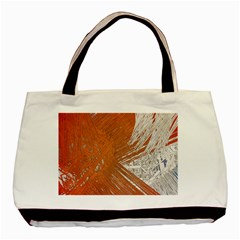 Abstract Lines Background Mess Basic Tote Bag by Celenk