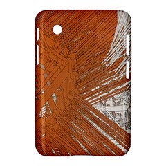 Abstract Lines Background Mess Samsung Galaxy Tab 2 (7 ) P3100 Hardshell Case  by Celenk