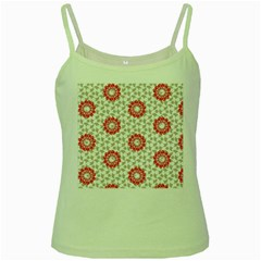 Stamping Pattern Fashion Background Green Spaghetti Tank by Celenk