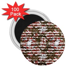 Grunge Textured Abstract Pattern 2 25  Magnets (100 Pack)  by dflcprints