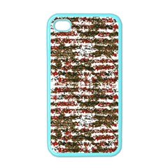Grunge Textured Abstract Pattern Apple Iphone 4 Case (color) by dflcprints