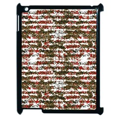 Grunge Textured Abstract Pattern Apple Ipad 2 Case (black) by dflcprints