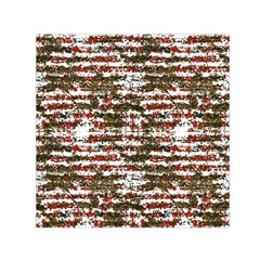 Grunge Textured Abstract Pattern Small Satin Scarf (square) by dflcprints
