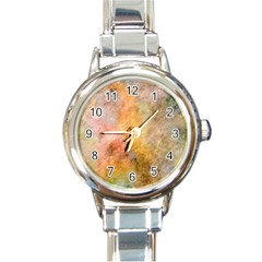 Texture Pattern Background Marbled Round Italian Charm Watch by Celenk