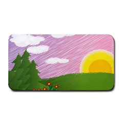 Pine Trees Sunrise Sunset Medium Bar Mats by Celenk