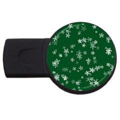 Template Winter Christmas Xmas Usb Flash Drive Round (2 Gb) by Celenk