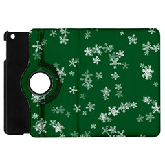 Template Winter Christmas Xmas Apple Ipad Mini Flip 360 Case by Celenk