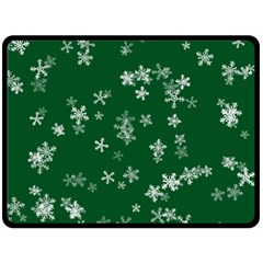 Template Winter Christmas Xmas Double Sided Fleece Blanket (large)  by Celenk