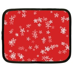 Template Winter Christmas Xmas Netbook Case (xl)  by Celenk