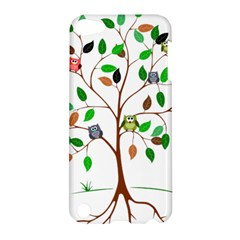 Tree Root Leaves Owls Green Brown Apple Ipod Touch 5 Hardshell Case by Celenk