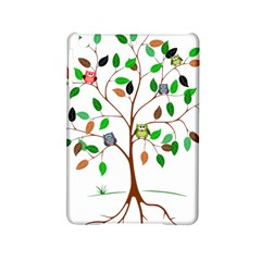 Tree Root Leaves Owls Green Brown Ipad Mini 2 Hardshell Cases by Celenk