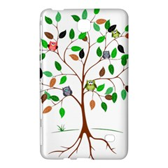 Tree Root Leaves Owls Green Brown Samsung Galaxy Tab 4 (8 ) Hardshell Case  by Celenk