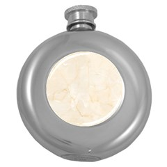 Rock Tile Marble Structure Round Hip Flask (5 Oz) by Celenk