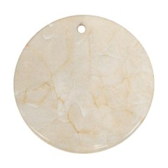 Rock Tile Marble Structure Round Ornament (two Sides) by Celenk