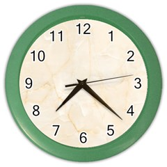 Rock Tile Marble Structure Color Wall Clocks by Celenk