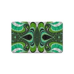 Fractal Art Green Pattern Design Magnet (name Card) by Celenk