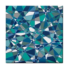 Abstract Background Blue Teal Tile Coasters by Celenk