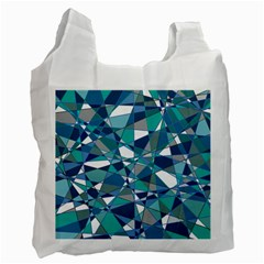 Abstract Background Blue Teal Recycle Bag (one Side) by Celenk