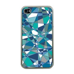 Abstract Background Blue Teal Apple Iphone 4 Case (clear) by Celenk