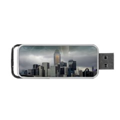Tornado Storm Lightning Skyline Portable Usb Flash (one Side) by Celenk