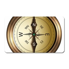 Compass North South East Wes Magnet (rectangular) by Celenk