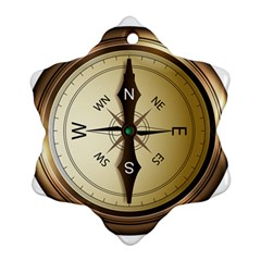 Compass North South East Wes Ornament (snowflake)