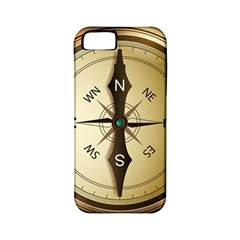 Compass North South East Wes Apple Iphone 5 Classic Hardshell Case (pc+silicone) by Celenk
