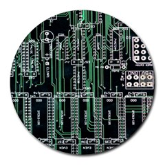 Printed Circuit Board Circuits Round Mousepads by Celenk