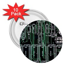 Printed Circuit Board Circuits 2 25  Buttons (10 Pack)  by Celenk