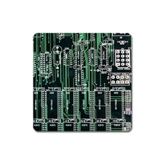 Printed Circuit Board Circuits Square Magnet by Celenk