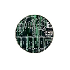 Printed Circuit Board Circuits Hat Clip Ball Marker by Celenk