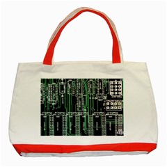Printed Circuit Board Circuits Classic Tote Bag (red) by Celenk