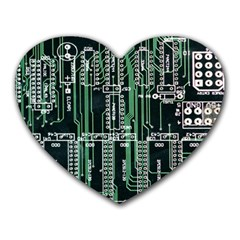 Printed Circuit Board Circuits Heart Mousepads by Celenk