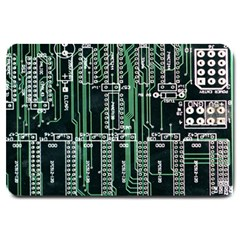 Printed Circuit Board Circuits Large Doormat  by Celenk