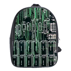 Printed Circuit Board Circuits School Bag (large) by Celenk