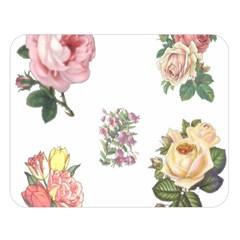 Rose Flowers Campanula Bellflower Double Sided Flano Blanket (large)  by Celenk