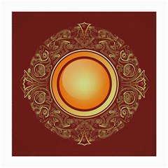 Badge Gilding Sun Red Oriental Medium Glasses Cloth (2 Side) by Celenk