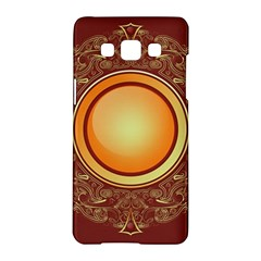 Badge Gilding Sun Red Oriental Samsung Galaxy A5 Hardshell Case  by Celenk