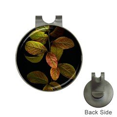 Autumn Leaves Foliage Hat Clips With Golf Markers by Celenk